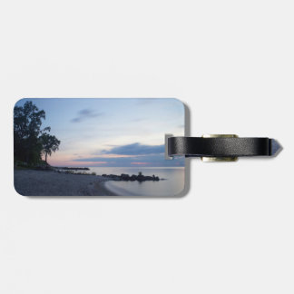 Lake Erie Beach in Evening Luggage Tag