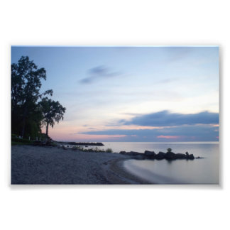 Lake Erie Beach in Evening Photo Print