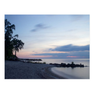 Lake Erie Beach in Evening Postcard