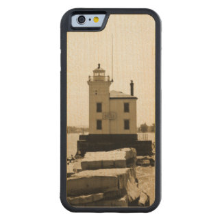 Lake Erie Lighthouse Carved Maple iPhone 6 Bumper Case