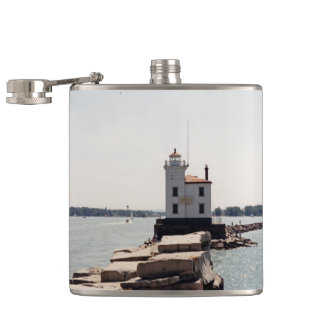 Lake Erie Lighthouse Hip Flask