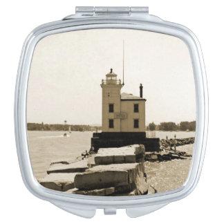 Lake Erie Lighthouse Makeup Mirror