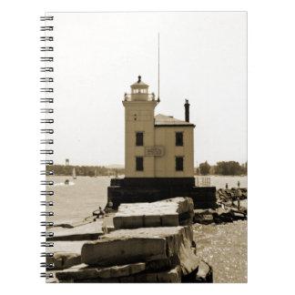Lake Erie Lighthouse Spiral Notebook