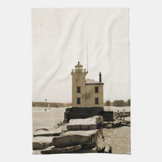 Lake Erie Lighthouse Kitchen Towel