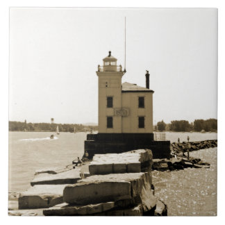 Lake Erie Lighthouse Tile