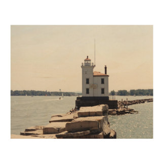 Lake Erie Lighthouse Wood Canvases