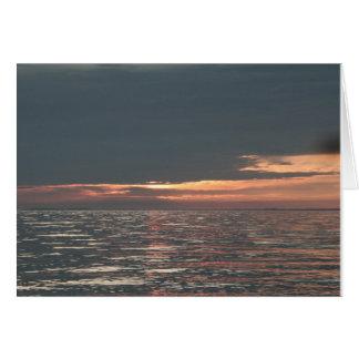 Lake Erie Sunset Notecard