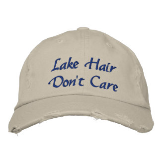 Lake Hair Don't Care Fun Women's Fashion Hat Embroidered Hat