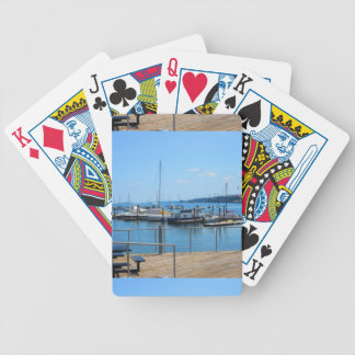 Lake Harbour SailBoats Lake view of Boston City Bicycle Playing Cards