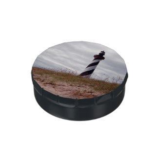 Lake Hatteras Lighthouse Jelly Belly Candy Tin