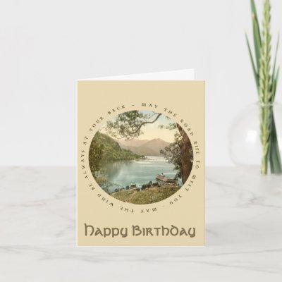 Lake in Kerry Ireland Vintage Happy Birthday Card on Za