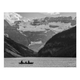 Lake Louise Alberta Black and White Postcard