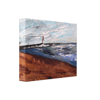 Lake Michigan Beauty Stretched Canvas Prints