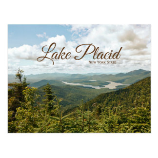 lake placid new york state postcard