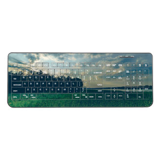 Lake view Custom Wireless Keyboard