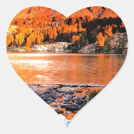 Lake Virginia Sierra Nevada Ains Heart Stickers