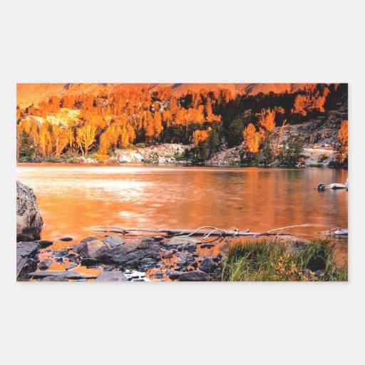 Lake Virginia Sierra Nevada Rectangle Sticker