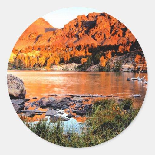 Lake Virginia Sierra Nevada Round Stickers