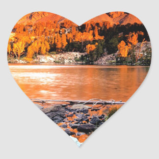 Lake Virginia Sierra Nevada Heart Sticker
