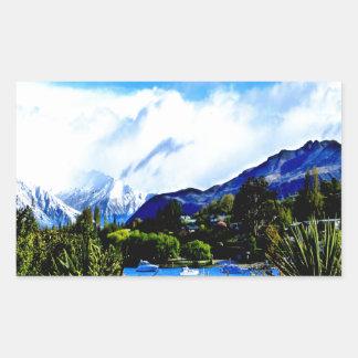 lake wanaka peaceful paradise rectangular sticker