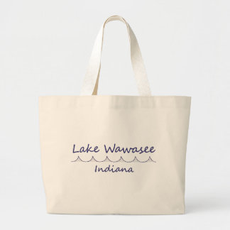 Lake Wawasee, Indiana Large Tote Bag