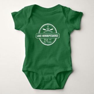 Lake Winnipesaukee NH custom town, name, anchor Baby Bodysuit