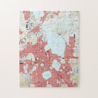 Lakeland Florida Map (1994) Jigsaw Puzzle