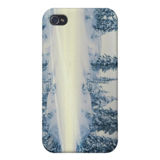 Lakeside Snow Tree Reflections iPhone 4/4S Cases