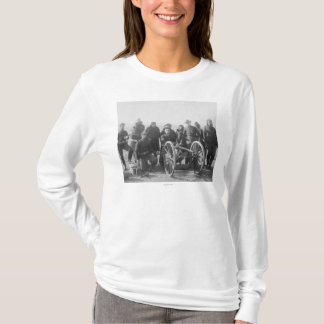 Lakota Scouts and White Soldiers Posed Behind T-Shirt
