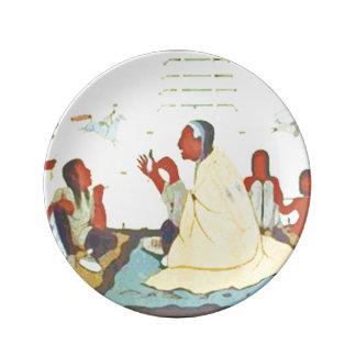 Lakota Storyteller porcelain plate