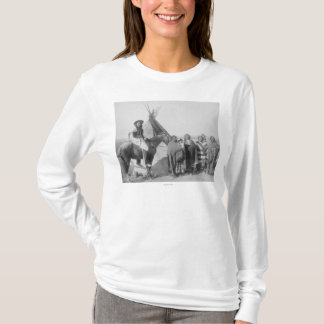Lakota Women with Infants and Man on Horseback T-Shirt