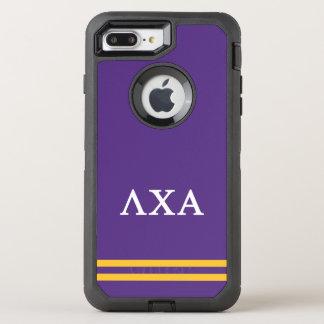 Lambda Chi Alpha   Sport Stripe OtterBox Defender iPhone 8 Plus/7 Plus Case
