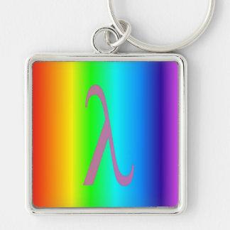 Lambda designed keychain