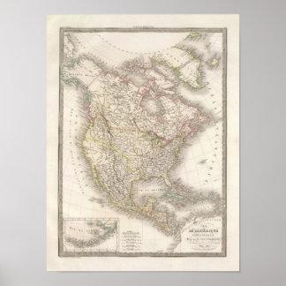 L'Amerique Septentrionale - North America Poster