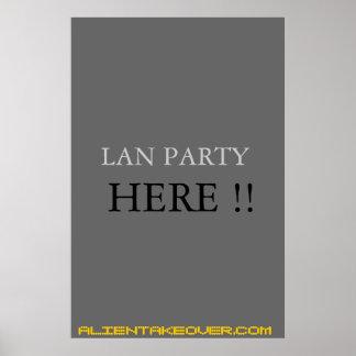 lan party sign poster