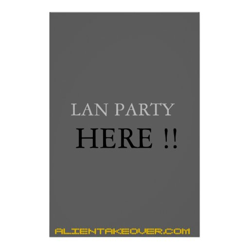 lan party sign posters