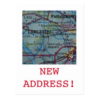 Lancaster New Address announcement Postcard