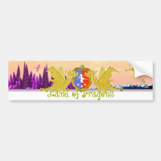 Land of Dragons Dragon Crest Bumper Stickers