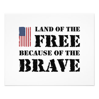 """Land of the Free 4.5"""" X 5.6"""" Flyer"""