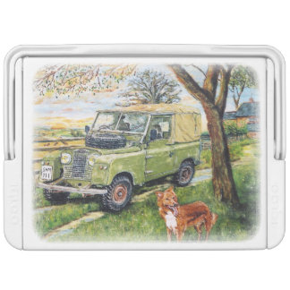 Land Rover Enthusiasts'  Can Cooler Farm Image Chilly Bin