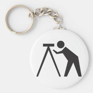 Land Surveyor at Work Key Ring
