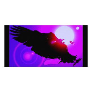 Landing Bald Eagle Personalized Photo Card