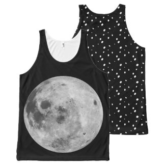 Landing on the moon All-Over print singlet