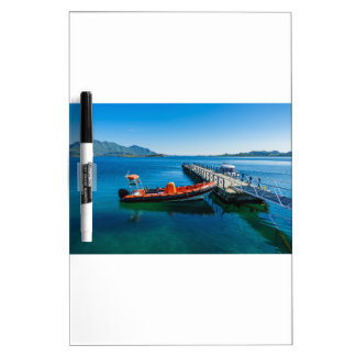 Landing stag and speed boat dry erase board