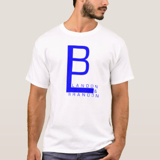 Landon And Brandon Logo T-Shirt (BLUE)