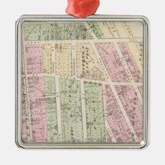 Landowners, store building maps Silver-Colored square decoration