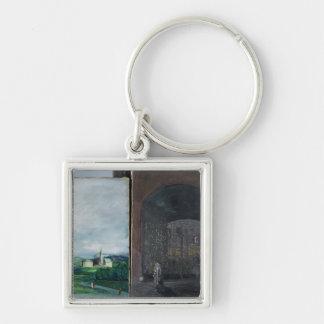 Landscape and street scene key ring