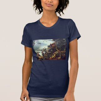 Landscape And Temptation Of St. Anthony By Bruegel T-shirt