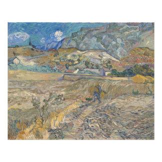 Landscape at Saint-Rémy ; Vincent Van Gogh Photo Print