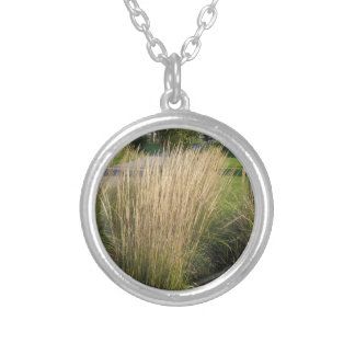 Landscape Grass matured  TEMPLATE add TEXT IMG Personalized Necklace